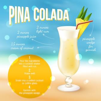 Affiche de recette de cocktail