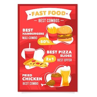 Affiche de repas combo