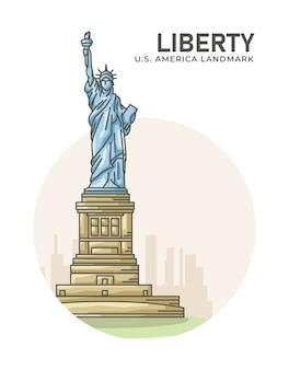 Affiche de repère américain liberty