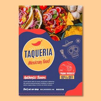 Affiche de restaurant mexicain