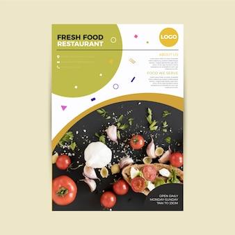 Affiche de restaurant de nourriture saine