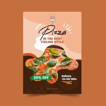 Affiche de restaurant de pizza