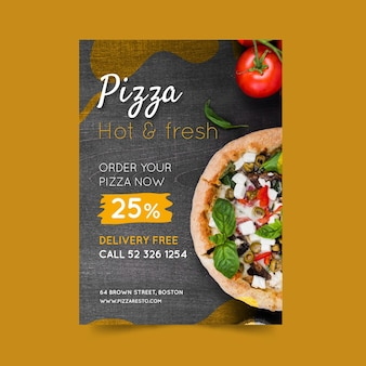 Affiche De Restaurant De Pizza Vecteur Premium