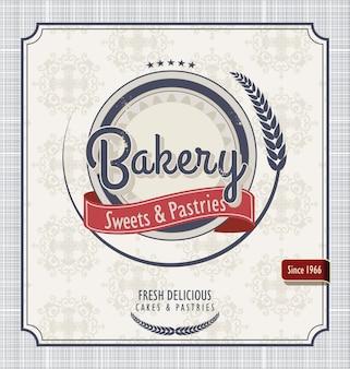 Affiche rétro de boulangerie