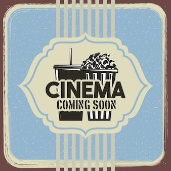 Affiche rétro de cinéma