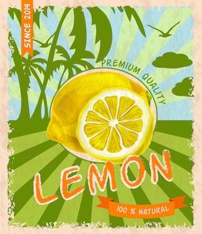 Affiche rétro citron