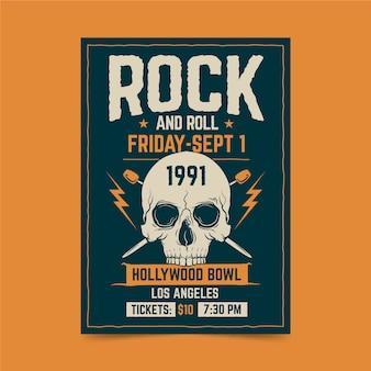 Affiche rétro du festival de rock