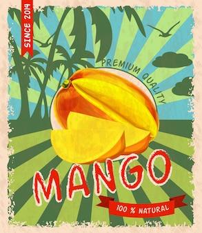Affiche rétro mangue