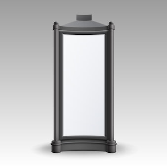 L'affiche rétro rectangulaire représente le pilier pour la publicité extérieure