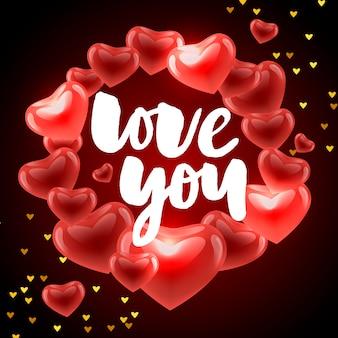 Affiche de la saint-valentin, carte, éléments de slogan de lettre bannière pour les éléments de la saint-valentin. typographie love heart