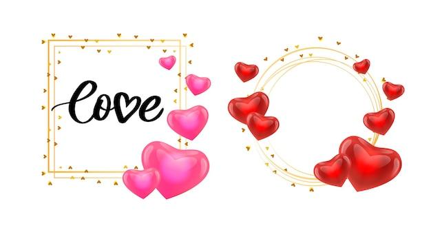 Affiche de la saint-valentin, carte, étiquette, éléments de slogan de lettre de bannière pour les éléments de conception de la saint-valentin