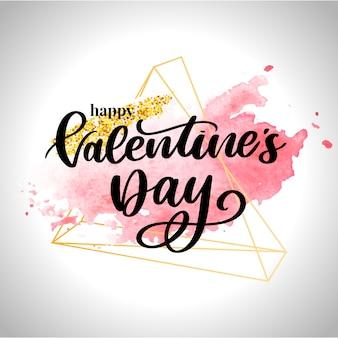 Affiche De La Saint-valentin, Carte, étiquette, éléments De Slogan De Lettre De Bannière Pour Les éléments De La Saint-valentin. Typographie Love Heart Vecteur Premium