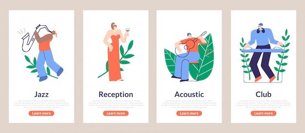 Affiche de saison jazz, réception, acoustique, club