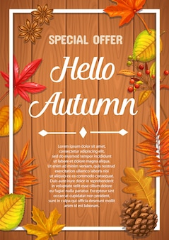Affiche saisonnière pour l'automne