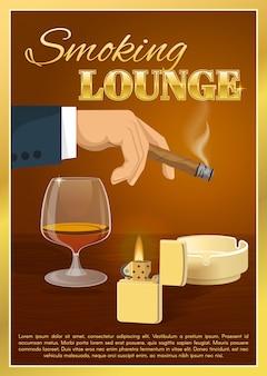 Affiche de salon de fumer