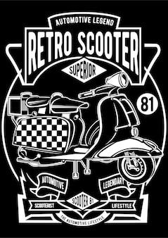 Affiche de scooter rétro