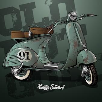Affiche de scooter vintage
