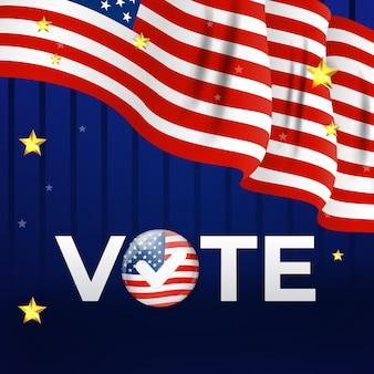 Affiche de la société électorale américaine. illustration vectorielle eps10
