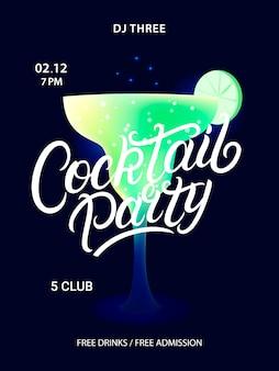 Affiche de la soirée cocktail.