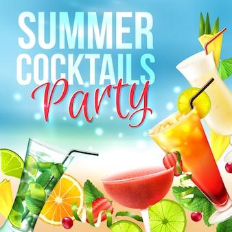 Affiche de soirée cocktail