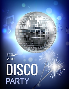 Affiche de soirée disco