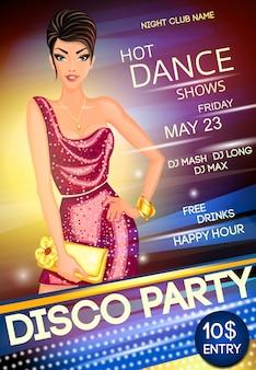 Affiche de la soirée disco