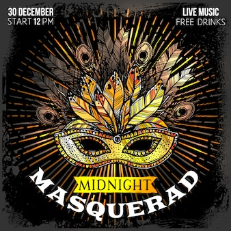Affiche de la soirée de mascarade