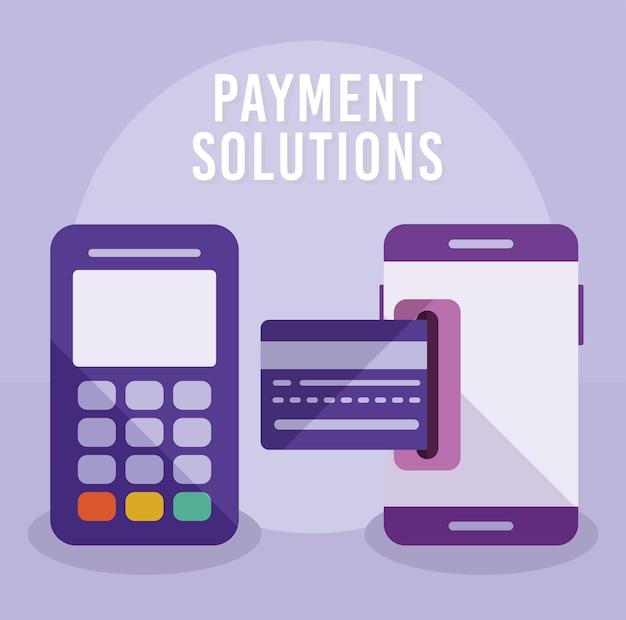 Affiche des solutions de paiement
