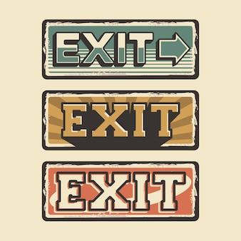 Affiche de sortie word sign retro retro rustic classic