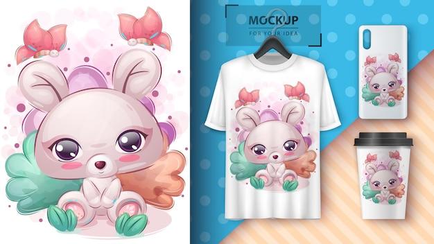 Affiche de souris mignonne et merchandising