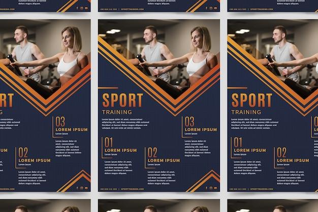 Affiche sportive avec photo