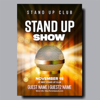 Affiche stand up night show