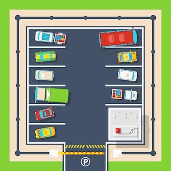 Affiche de stationnement vue de dessus