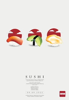 Affiche de sushi restaurant vector illustration