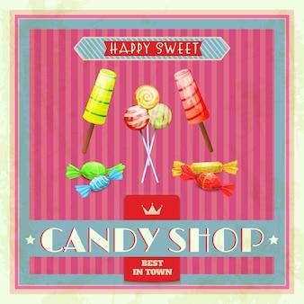 Affiche sweet shop