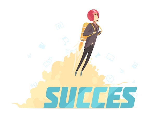 Affiche symbolique de réussite en affaires