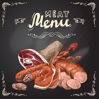 Affiche de tableau de viande