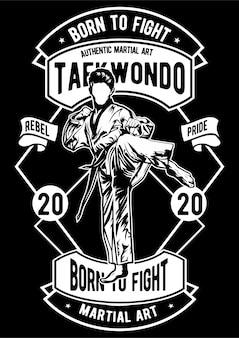 Affiche de taekwondo