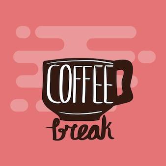 Affiche avec une tasse de café