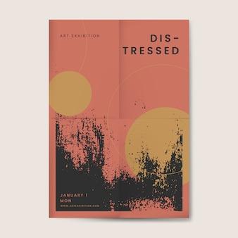 Affiche texturée en détresse grunge noire