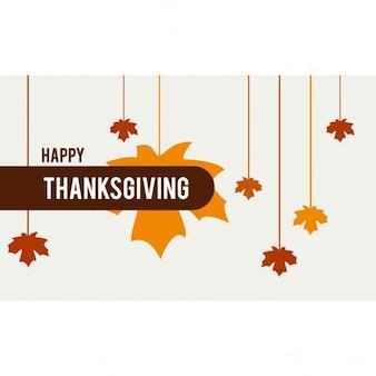 Affiche de thanksgiving heureux