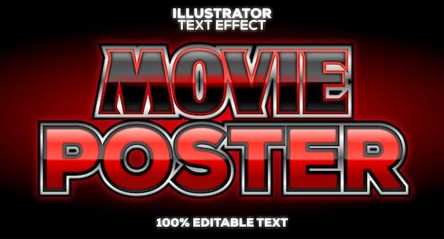 Affiche de titre de film style texte noir et rouge