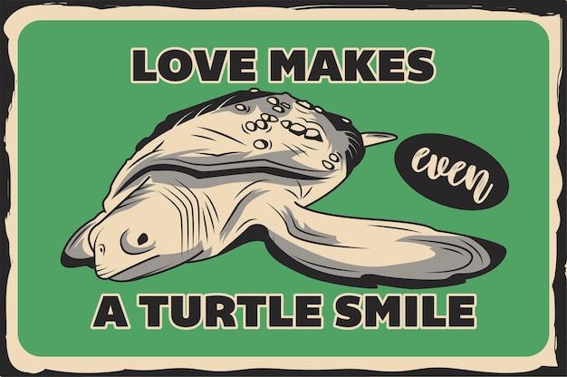 Affiche avec une tortue