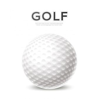 Affiche de tournoi de golf balle de golf 3d