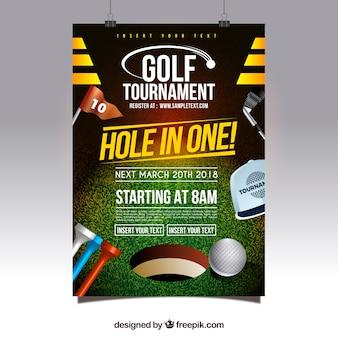Affiche de tournoi de golf moderne créative