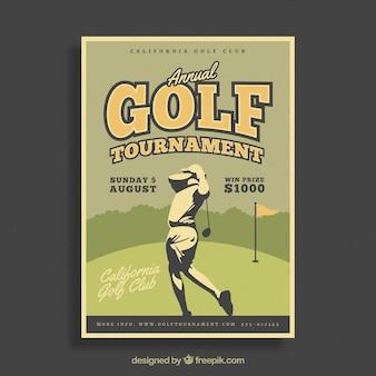 Affiche de tournoi de golf rétro