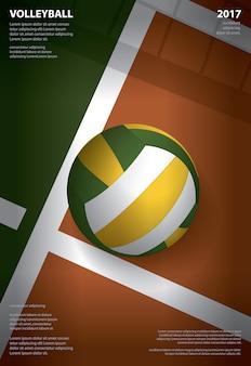 Affiche de tournoi de volleyball