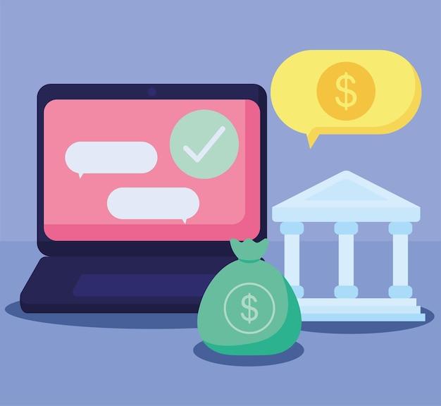 Affiche de transaction financière