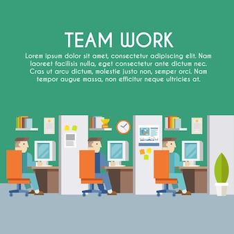 Affiche de travail d'homme d'affaires