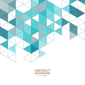 Affiche de triangles polygonaux abstraits.